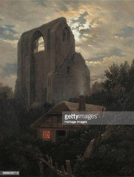 Ruins of the Eldena Monastery with cottage near Greifswald in Moonlight 1820 Found in the collection of Pommersches Landesmuseum Greifswald Artist...