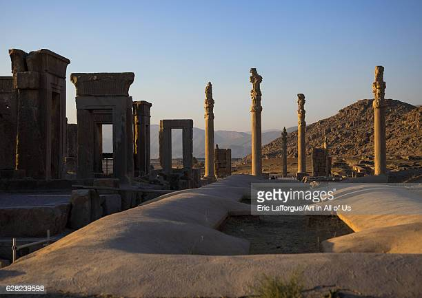 Ruins of the gate of all nations in Persepolis, Fars Province, Marvdasht, Iran on October 15, 2016 in Marvdasht, Iran.
