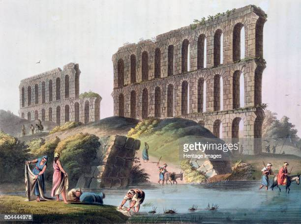 Ruins of the Grand Aqueduct of Ancient Carthage' Tunisia 1803 Plate 23 from Views in the Ottoman Empire 1803 Artist Luigi Mayer