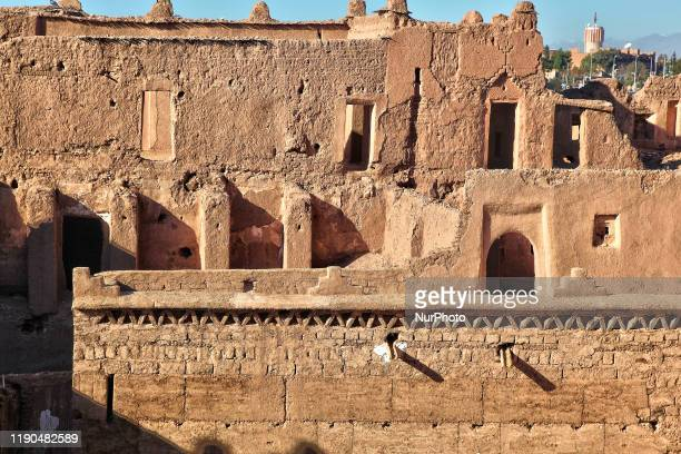 Ruins of the historic Taourirt Kasbah located in the Atlas Mountains in Ouarzazate, Morocco, Africa on 4 January 2016. The Kasbah dates back to the...