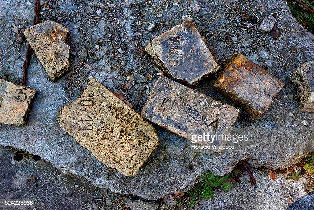 Ruins of the kitchen's basement where inmates were tortured in Walldorf concentration camp in Walldorf Germany 07 April 2015 almost 70 years after...