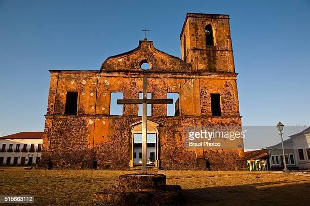 Ruins of the Matriz de Sao Mathias church Alcantara Maranhao Brazil the city was declared by the Brazilian government as a National Historical...
