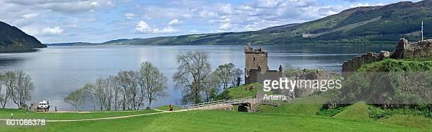 Ruins of the medieval Urquhart Castle along Loch Ness near Drumnadrochit Scottish Highlands Scotland UK