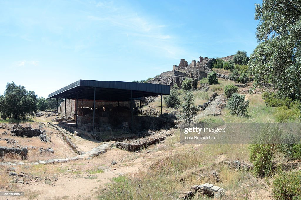 Ruins of the Munigua (Mulva) : Foto de stock