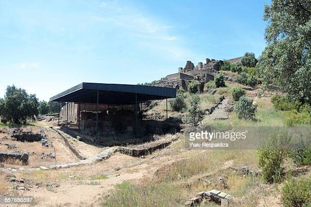ruins of the munigua (mulva) - iñaki respaldiza stock pictures, royalty-free photos & images