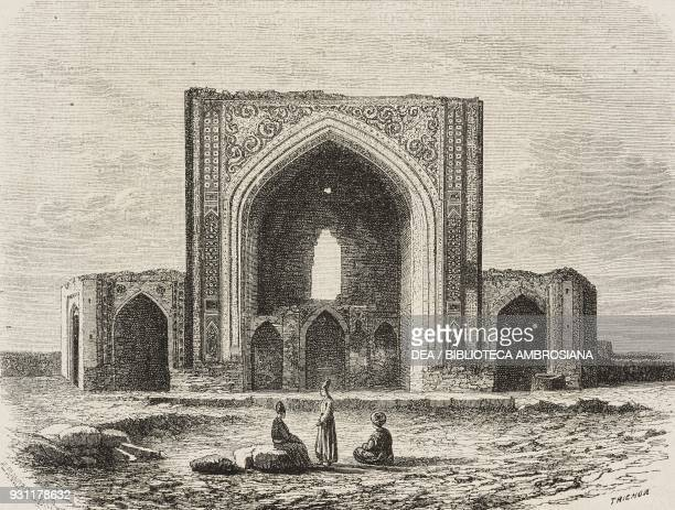 Ruins of the Musalla of Mashhad Iran drawing by Alexandre de Bar from Narrative of a Journey into Khorasan by N de Khanikoff illustration from Il...