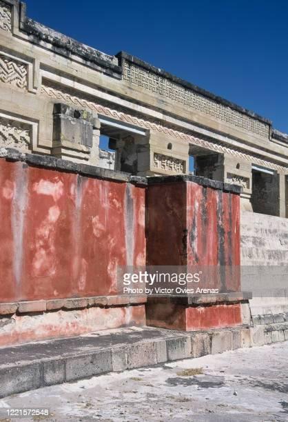 ruins of the old zapotec religious complex of mitla - victor ovies fotografías e imágenes de stock