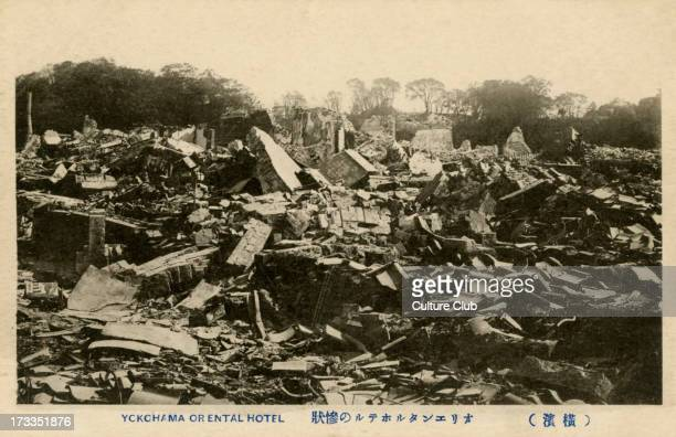 Ruins of the Oriental Hotel, Yokohama. On September 1st the Great Kanto Earthquake struck Yokohama, levelling much of the city.