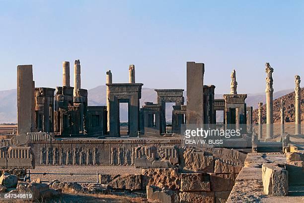 Ruins of the Palace of Darius I, Persepolis , Iran. Achaemenid civilisation, 6th-5th century BC.
