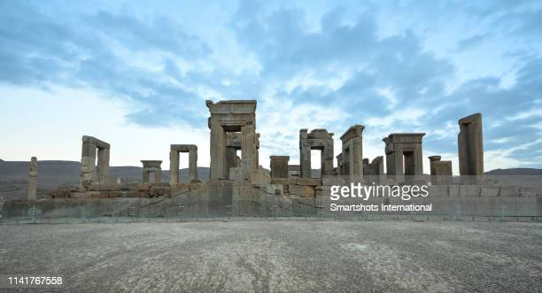 ruins of the palace of darius the great in persepolis, iran, a unesco heritage site - shiraz stock pictures, royalty-free photos & images