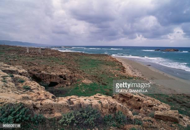 Ruins of the port of Apollonia near Susah Libya Greek and Roman civilization 6th century BC3rd century AD