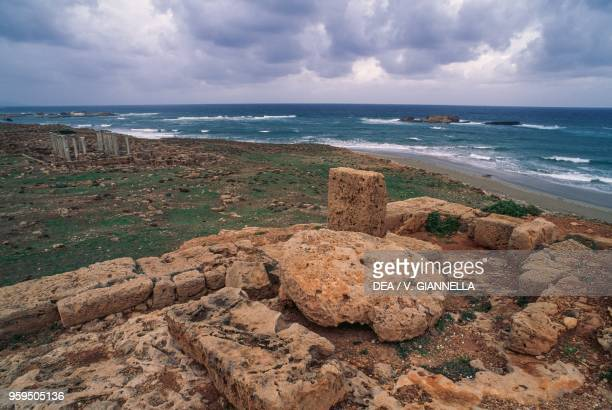 Ruins of the port of Apollonia near Susah Libya Greek and Roman civilizationV1st century BC3rd century AD