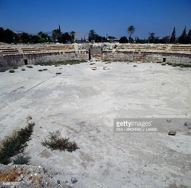 Ruins of the Roman hippodrome ancient city of Bet Sh'ean Israel