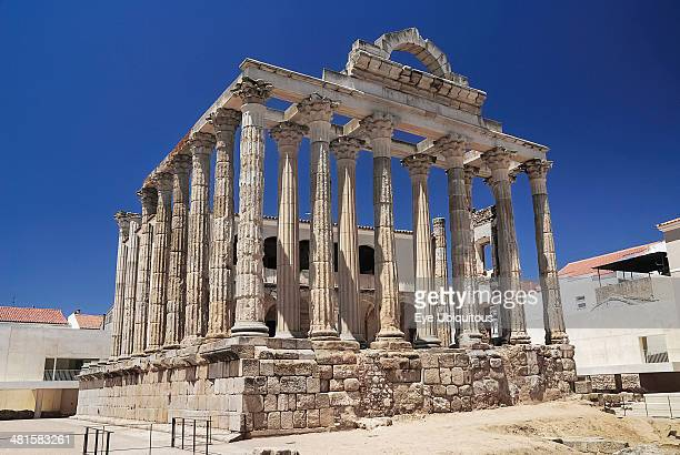 Ruins of the Roman Temple of Diana Spain Extremadura Merida