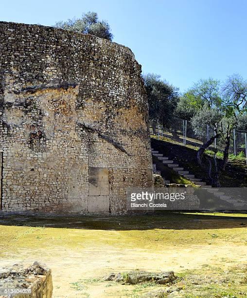 Ruins of the Roman Theatre of Italica in Spain