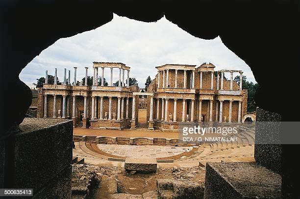 Ruins of the Roman Theatre of Merida Spain Roman civilisation 2nd century BC