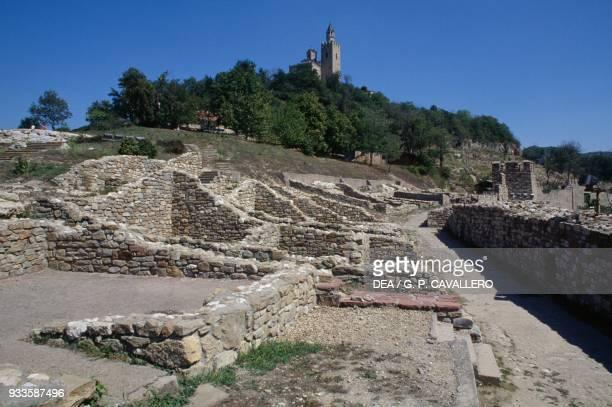 Ruins of the royal palace in Tsarevets fortress Veliko Tarnovo Bulgaria 12th century