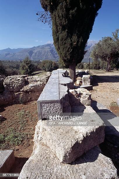 Ruins of the sanctuary of Apollo Amyklaios Amykles near Sparta Peloponnese Greece Greek civilisation 6th century BC