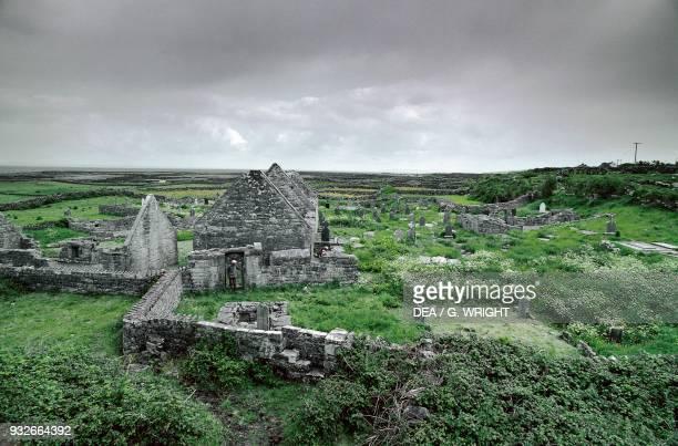 Ruins of The Seven Churches Inishmore Aran Islands Ireland 8th9th century