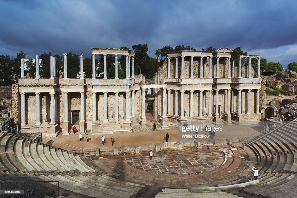 ruins of the Teatro Romano : Stock Photo