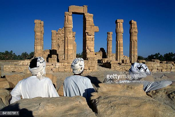 Ruins of the Temple of Amun at Soleb 1400 BC built for Amenoteph III's jubilee Nubia Egyptian civilisation XVIII dynasty Sudan 15th century BC