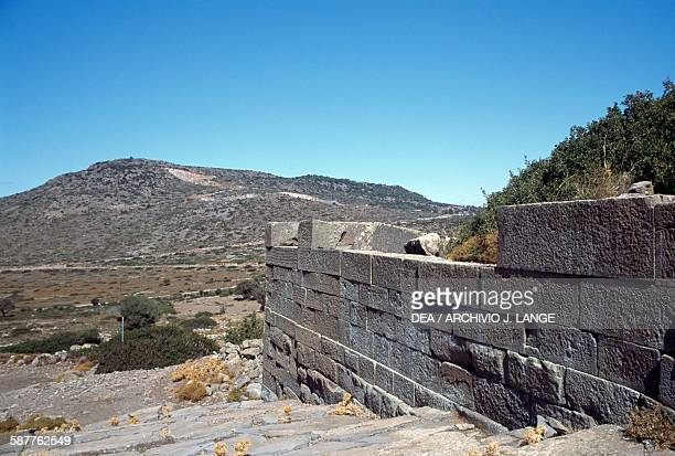 Ruins of the temple of Zeus Hellanios ancient Aegina island of Aegina Greece Greek civilisation 4th century BC