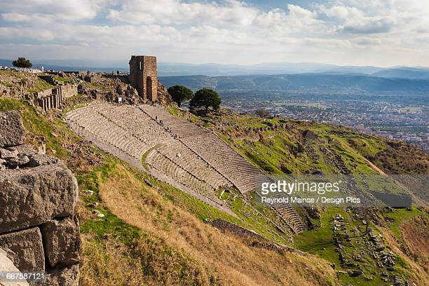 Ruins of the theater in Pergamum, with such good acoustics that a whisper onstage could be heard all the way to the top row