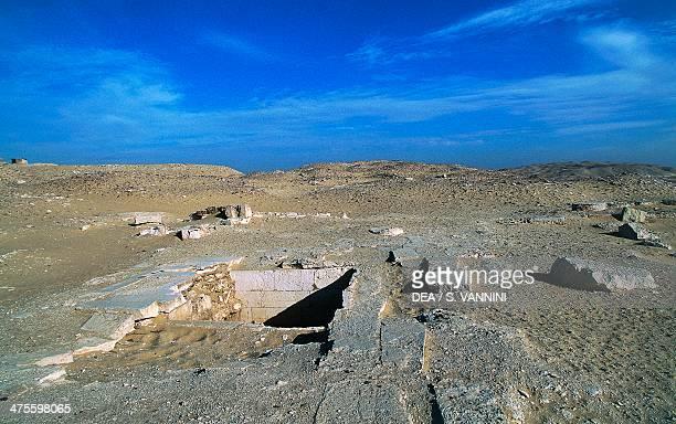 Ruins of the tombs Funerary Complex of Djoser Saqqara Memphis Egypt Egyptian civilisation Old Kingdom Dynasty III