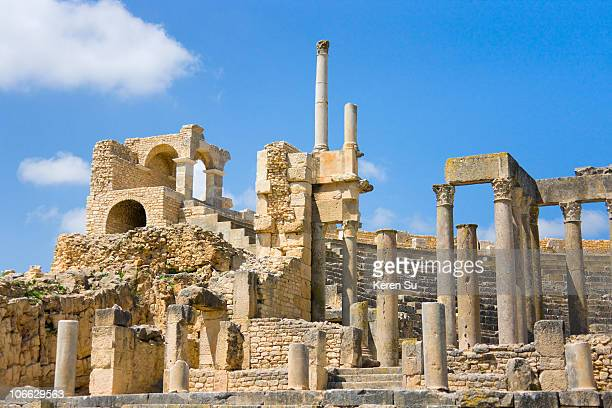 Ruins of Thugga , Temple La Piete Auguste