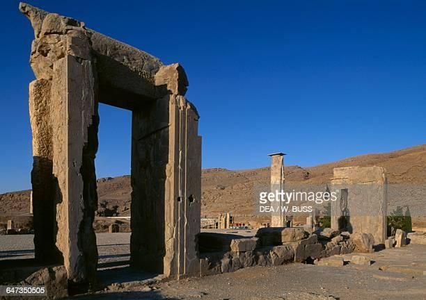 Ruins of Tripylon palace in Persepolis Iran Achaemenid civilisation 6th5th century BC