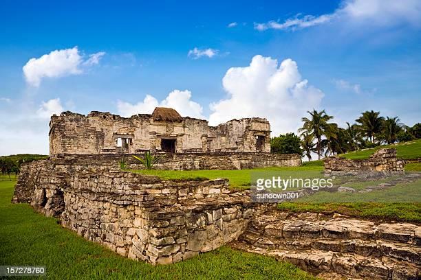 ruínas de tulum - arqueologia - fotografias e filmes do acervo