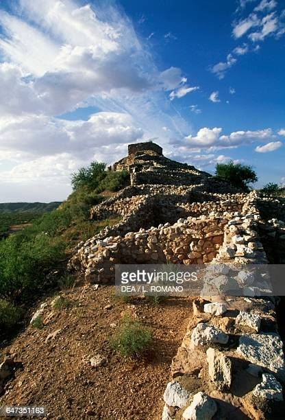 Ruins of Tuzigoot pueblo, Tuzigoot National Monument, Arizona, United States of America. Sinagua civilisation, 1125-1400.