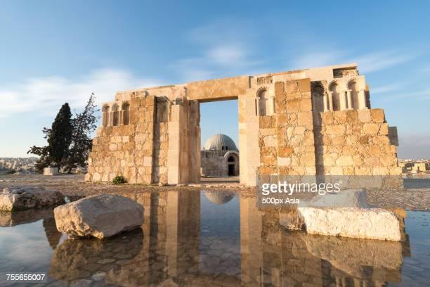 ruins of umayyad palace, jordan - image stock pictures, royalty-free photos & images