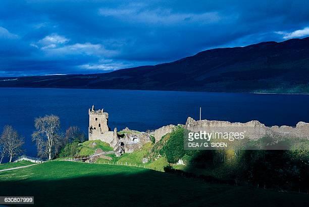 Ruins of Urquhart Castle Loch Ness Highlands Scotland United Kingdom 13th16th century