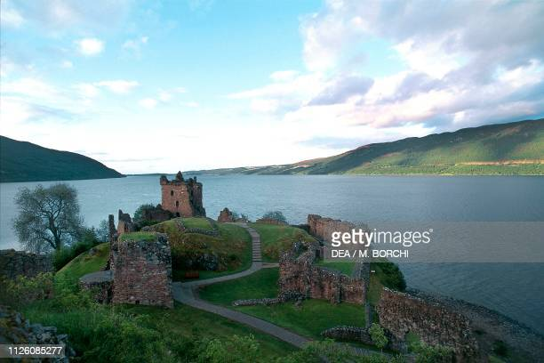 Ruins of Urquhart castle Loch Ness Scotland United Kingdom 13th17th century