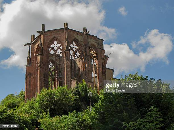 Ruins of Wernerkapelle in Bacharach, Rhineland-Palatinate, Germany