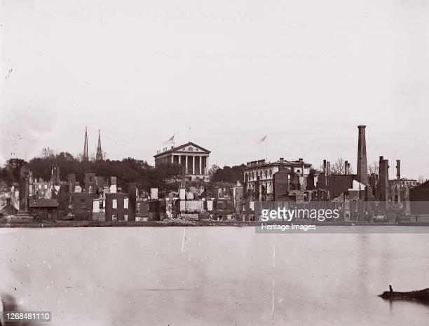 Ruins on North Bank of Canal, Richmond, 1865. Formerly attributed to Mathew B. Brady. Artist Alexander Gardner.