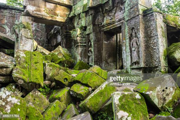 Ruins Rubble at Ta Prohm Ta Prohm is the modern name of what was originally called Rajavihar Built in the Bayon style in the late 12th century Ta...