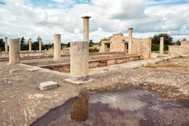 Ruinso of arcaeological site of Apollon Ilatis sanctuary in Limassol, Cyprus, Europe