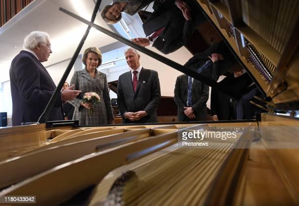 Ruiselede Belgium November 6 2019 Bezoek aan Piano's Maene Visite à Pianos Maene * King Philippe * Queen Mathilde © Philip Reynaers / Photo News via...