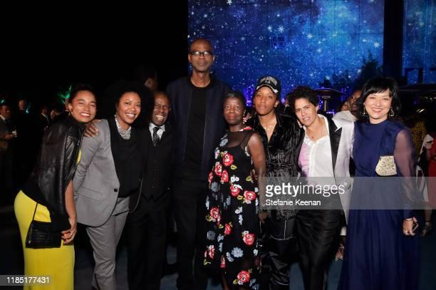 Rujeko Hockley guest Charles Gaines Mark Bradford Thelma Golden Lauren Halsey Julie Mehretu and Christine Y Kim attend the 2019 LACMA Art Film Gala...