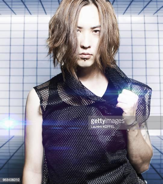 Ruka du groupe de musique Japonais Nightmare' pendant 'Japan Expo 2013' Paris France