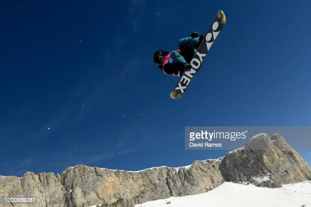 Ruka Hirano of Japan of xx competes in his final run in Men's Snowboard Halfpipe during day 12 of the Lausanne 2020 Winter Youth Olympics at Leysin...