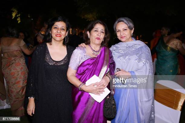 Rukmini and Rupika Chawla with actress Sharmila Tagore during the fundraiser for Lepra India Trust at the residence of the British High Commissioner...