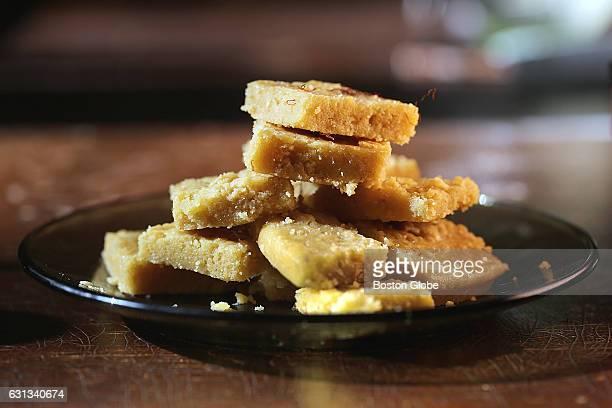 Rukmini Srinivas's mysore pak a sweet Indian treat are pictured in Arlington MA on Oct 30 2015