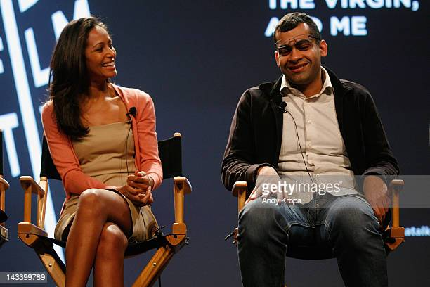 Rula Jebreal and Namir Abdel Messeeh attend Tribeca Talks After The Movie 'Virgin The Copts And Me' during the 2012 Tribeca Film Festival at the...