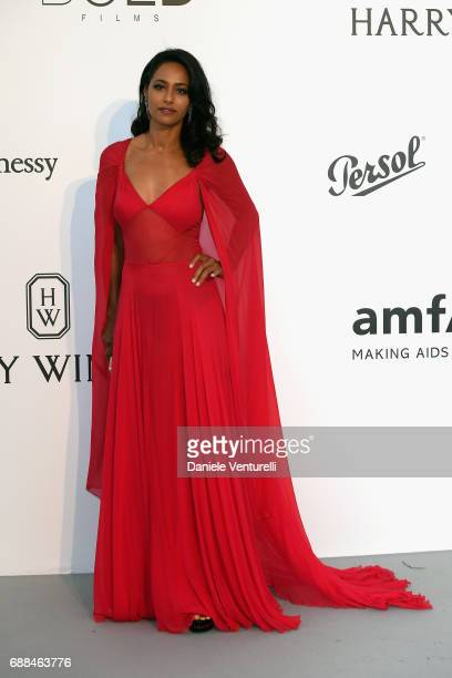Rula Jebreal arrives at the amfAR Gala Cannes 2017 at Hotel du CapEdenRoc on May 25 2017 in Cap d'Antibes France