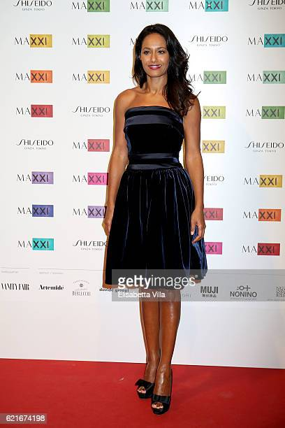 Rula Jebreal attends a photocall for the MAXXI Acquisition Gala Dinner 2016 at Maxxi Museum on November 7 2016 in Rome Italy
