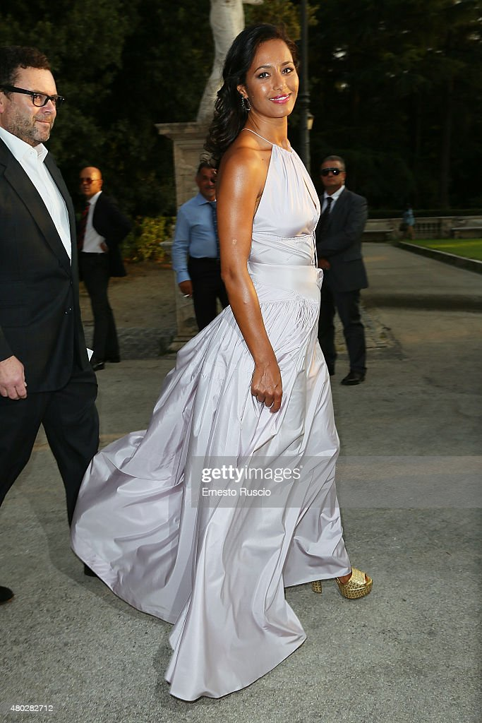 Rula Jebreal attends Coulture/Sculpture Vernissage Cocktail honoring Azzedine Alaia in the history of fashion at Galleria Borghese at Galleria Borghese on July 10, 2015 in Rome, Italy.