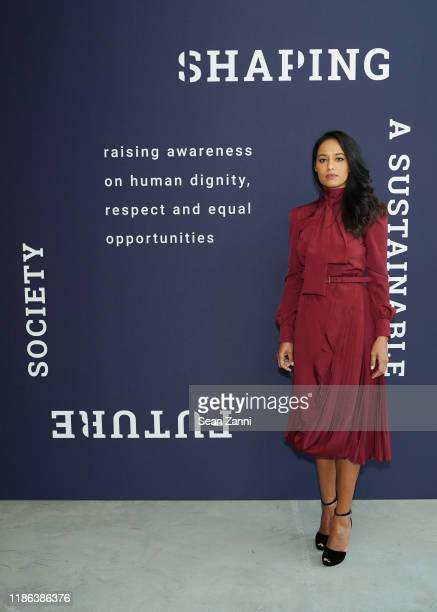 Rula Jebreal attends Prada Shaping a Sustainable Future Society conference in New York on November 08 2019 in New York City